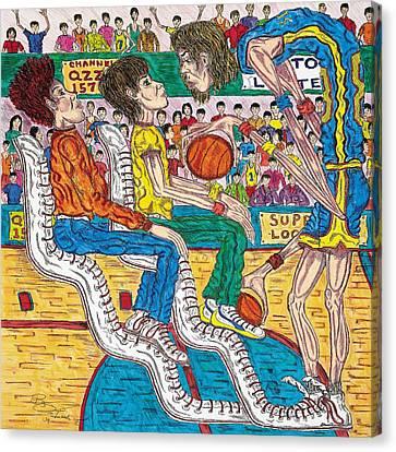 So You Wanna Play Ball Canvas Print by Richard Hockett