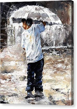 Soaked Canvas Print by Emerico Imre Toth