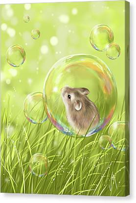 Ipads Canvas Print - Soap Bubble by Veronica Minozzi