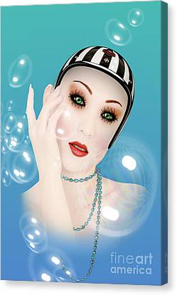 Soap Bubble Woman  Canvas Print by Mark Ashkenazi