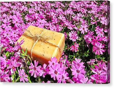Soap On Flowers Canvas Print by Olivier Le Queinec