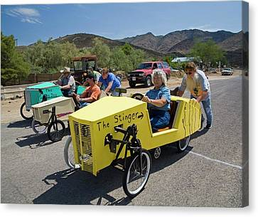 Soapbox Derby Canvas Print by Jim West
