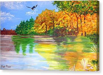 Soar Canvas Print by Kat Poon