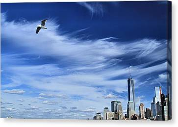 Soar Over New York City Canvas Print by Dan Sproul