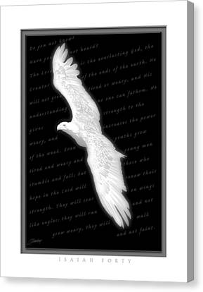 Courage Canvas Print - Soaring - Isaiah Forty by Cliff Hawley