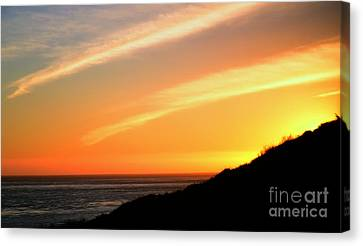 Canvas Print featuring the photograph Socal Coastal Sunset by Clayton Bruster