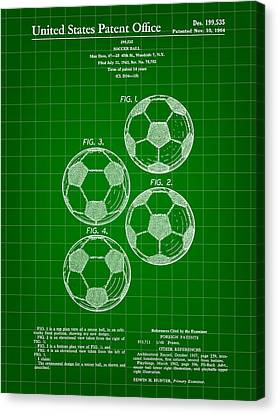 Soccer Ball Patent 1964 - Green Canvas Print by Stephen Younts