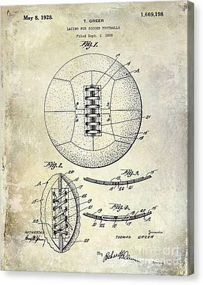 Sports Bar Canvas Print - Soccer Patent 1926 by Jon Neidert