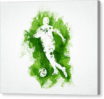 Soccer Player Canvas Print by Aged Pixel
