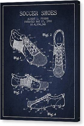 Soccershoe Patent From 1980 Canvas Print by Aged Pixel