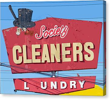 Society Cleaners Canvas Print by Charlette Miller