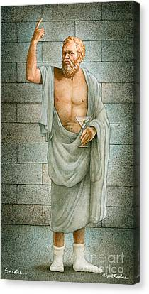 Socrates... Canvas Print by Will Bullas