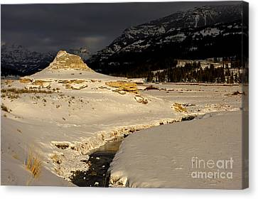 Soda Butte Yellowstone Canvas Print by Deby Dixon