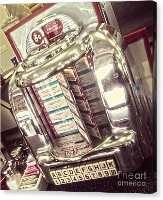 Soda Fountain Juke Box Canvas Print