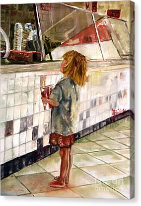 Soda Girl Canvas Print by CJ  Rider