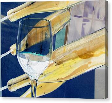 Canvas Print featuring the photograph Soda Or Wine Is Fine by Marie Neder