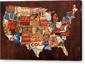 Soda Pop America Canvas Print by Design Turnpike