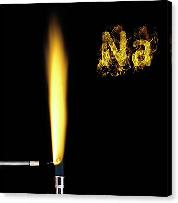 Sodium Flame Test Canvas Print by Science Photo Library