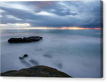 Soft And Blue Canvas Print by Peter Tellone