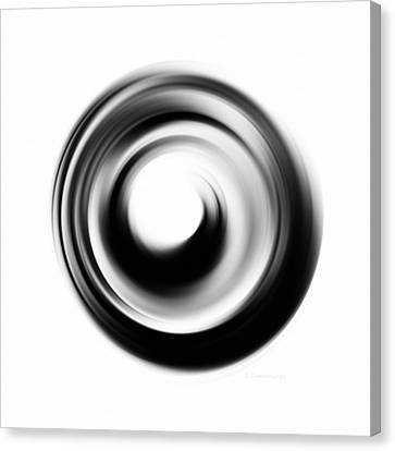 Soft Black Enso - Art By Sharon Cummings Canvas Print