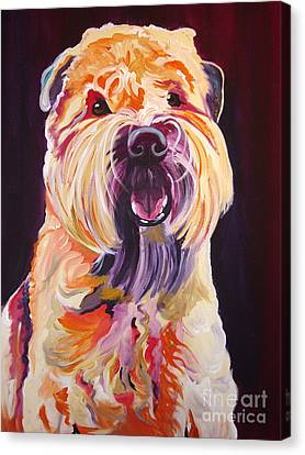 Soft Coated Wheaten Terrier - Bailey Canvas Print by Alicia VanNoy Call