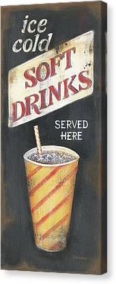 Soft Drinks Canvas Print by Kim Lewis