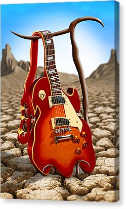 Soft Guitar Canvas Print