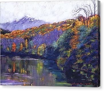Soft Lake Canvas Print by David Lloyd Glover