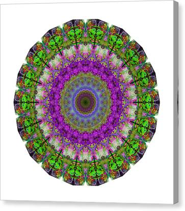 Soft Light - Kaleidoscope Mandala By Sharon Cummings Canvas Print by Sharon Cummings