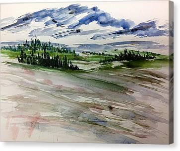 Soft Mountain Wash Canvas Print