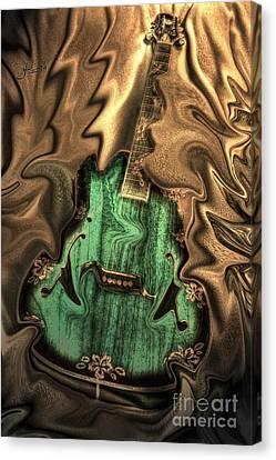 Soft Music Digital Guitar Art By Steven Langston Canvas Print by Steven Lebron Langston