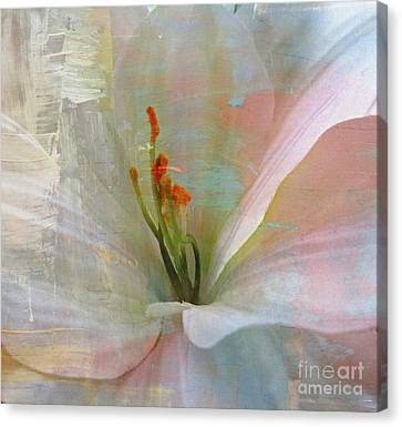 Soft Painted Lily Canvas Print by Judy Palkimas