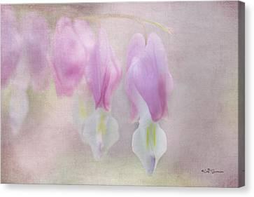 Soft Pink Heart Canvas Print