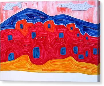 Soft Pueblo Original Painting Canvas Print