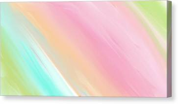 Meshed Canvas Print - Soft Rainbows by Constance Carlsen