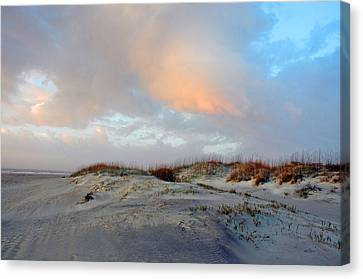 Canvas Print featuring the photograph Soft Sun Rise by Allen Carroll