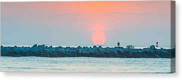 Soft Sunrise At Jetty Park Canvas Print by Cliff C Morris Jr