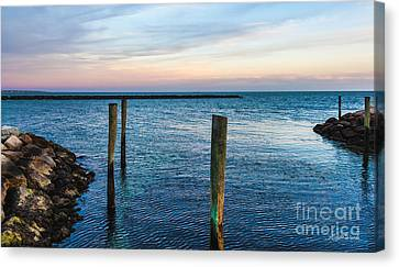 Soft Sunset On Cape Cod Canvas Print by Michelle Wiarda