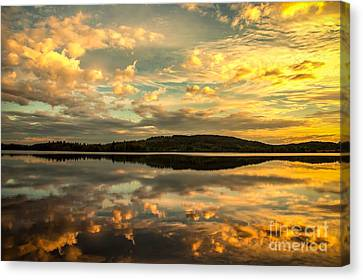 Canvas Print featuring the photograph Soft Sunset by Rose-Maries Pictures