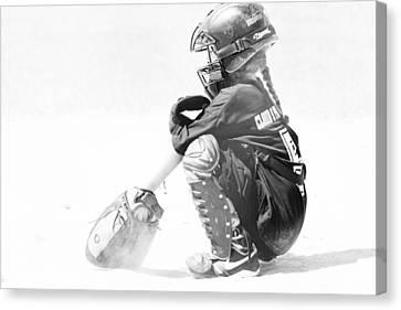 Softball Catcher Canvas Print