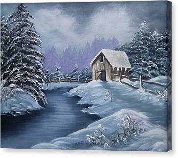 Softest Snow Canvas Print