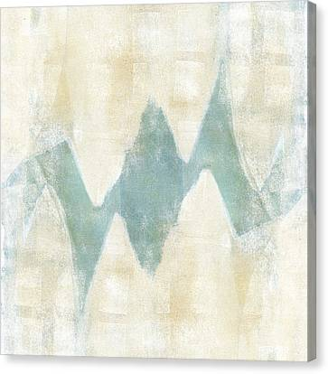 Softly Green 1 Square Canvas Print by Carol Leigh