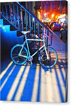 Canvas Print featuring the photograph Soho Bicycle  by Joan Reese