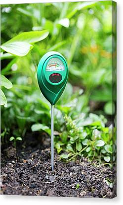 Familiars Canvas Print - Soil Ph Meter by Science Photo Library
