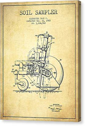 Soil Sampler Machine Patent From 1965 - Vintage Canvas Print by Aged Pixel