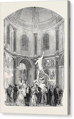 Soiree Of The Suburban Artisan Schools, In The Flaxman Hall Canvas Print by English School