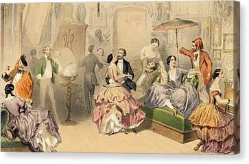 Soirees Parisiennes Canvas Print by Henri de Montaut