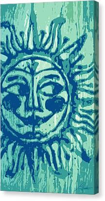 Sol -aqua Canvas Print