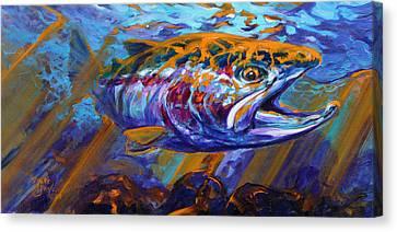 Sol Duc Steel Canvas Print by Savlen Art