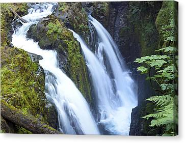 Sol Duc Waterfalls In Olympic National Park Canvas Print by King Wu